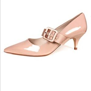 Zara court heels - Mary Jane kitten satin strap 40